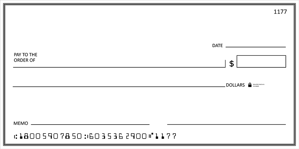 Big Checks  Large Presentation Checks  MegaPrint With Large Blank Cheque Template Throughout Large Blank Cheque Template