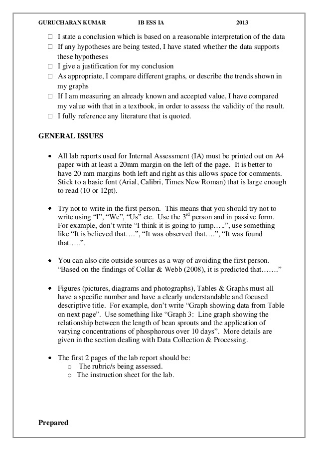 Biology IA Ideas (Page 11) - Line.111QQ Within Ib Lab Report Template
