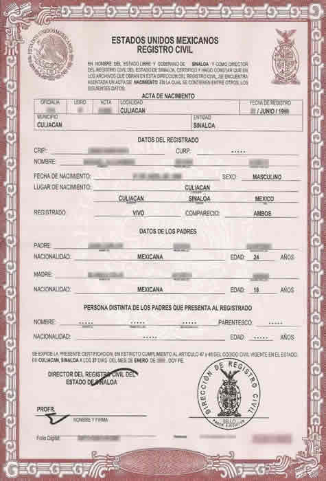 Birth Certificate Translation Services for USCIS, Fast and Cheap Throughout Mexican Marriage Certificate Translation Template