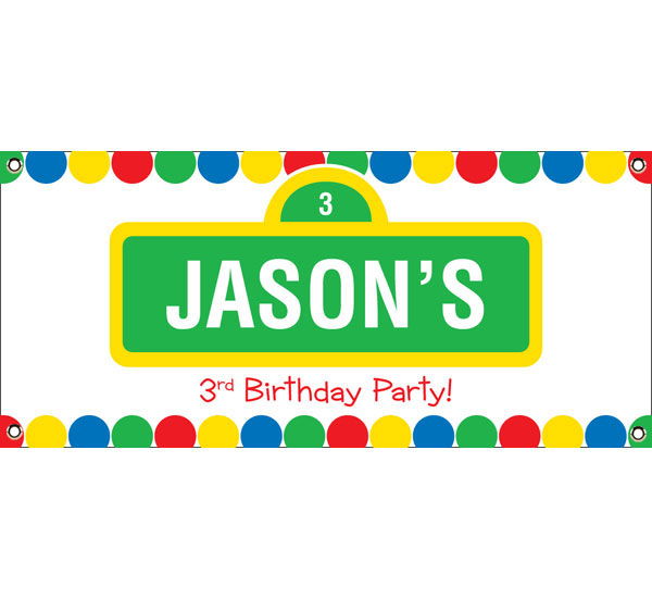 Birthday Sesame Street Theme Banner With Regard To Sesame Street Banner Template