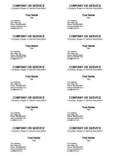 Blank Business Card Template  AllFreePrintable Pertaining To Free Editable Printable Business Card Templates