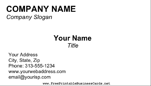 Blank Business Card With Free Editable Printable Business Card Templates Intended For Free Editable Printable Business Card Templates