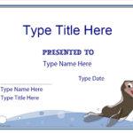 Blank Certificates - Swimming Certificate Template  Throughout Free Swimming Certificate Templates