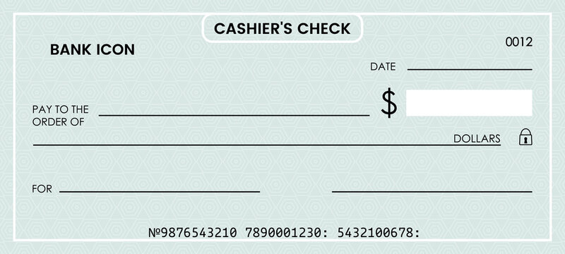 Blank Check Template photos, royalty-free images, graphics  Regarding Cashiers Check Template Inside Cashiers Check Template