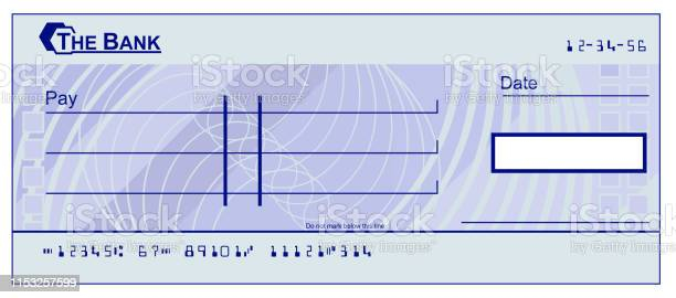 Blank Cheque Stock Illustration - Download Image Now With Regard To Blank Cheque Template Uk Pertaining To Blank Cheque Template Uk