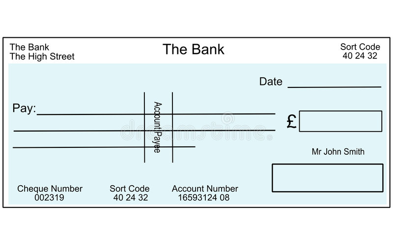 Blank Cheque Stock Illustrations – 11,11 Blank Cheque Stock  In Blank Cheque Template Uk For Blank Cheque Template Uk