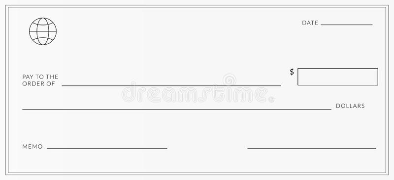 Blank Cheque Stock Illustrations – 11,11 Blank Cheque Stock  With Regard To Blank Cheque Template Uk Intended For Blank Cheque Template Uk