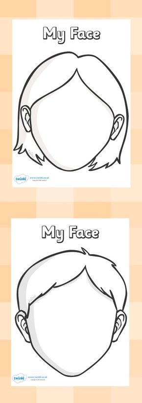 Blank Face Template Pack  Face template, All about me preschool  Inside Blank Face Template Preschool With Regard To Blank Face Template Preschool