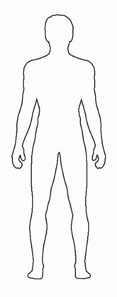 Blank Female Body Diagram - Human Anatomy Throughout Blank Body Map Template Inside Blank Body Map Template