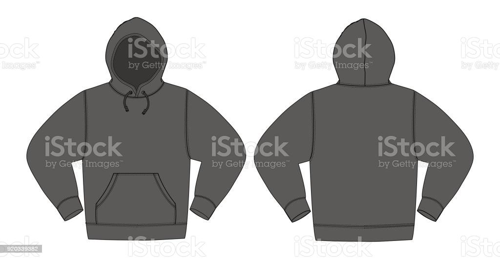 Blank Hoodie Template Free Vector Art - (11 Free Downloads) Inside Blank Black Hoodie Template With Blank Black Hoodie Template