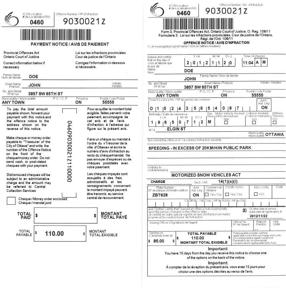 Blank Parking Ticket (Page 11) - Line.111QQ Regarding Blank Parking Ticket Template