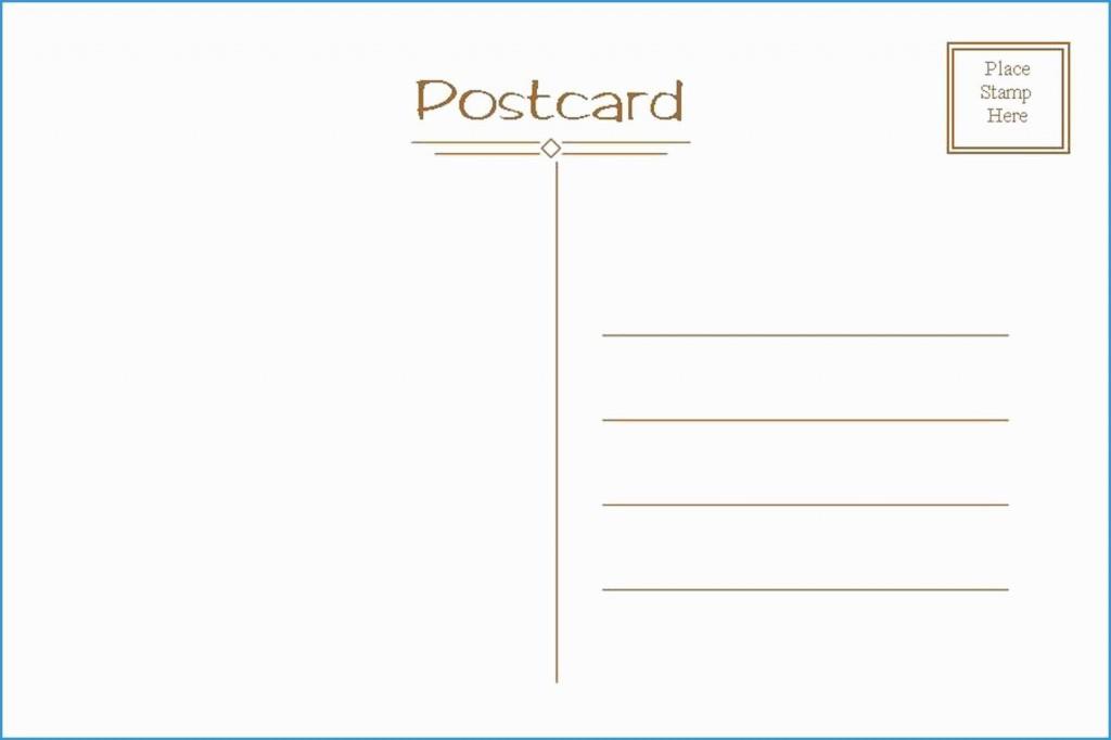 Blank Postcard Template Free ~ Addictionary Regarding Free Blank Postcard Template For Word
