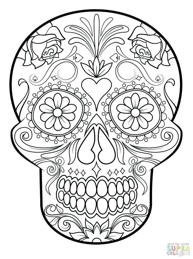 Blank Sugar Skull Outline (Page 11) - Line.11QQ Regarding Blank Sugar Skull Template