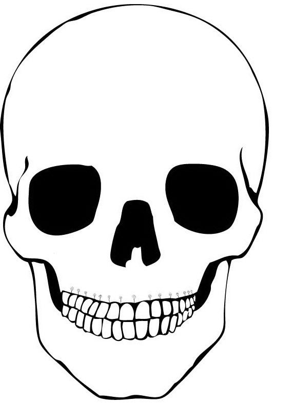 Blank Sugar Skull Outline (Page 11) - Line.11QQ With Regard To Blank Sugar Skull Template