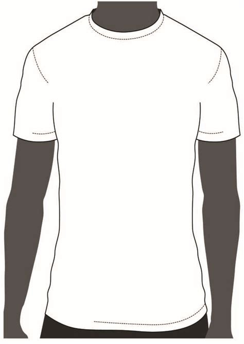 Blank T-Shirt Outline (Page 11) - Line.111QQ.com Throughout Printable Blank Tshirt Template