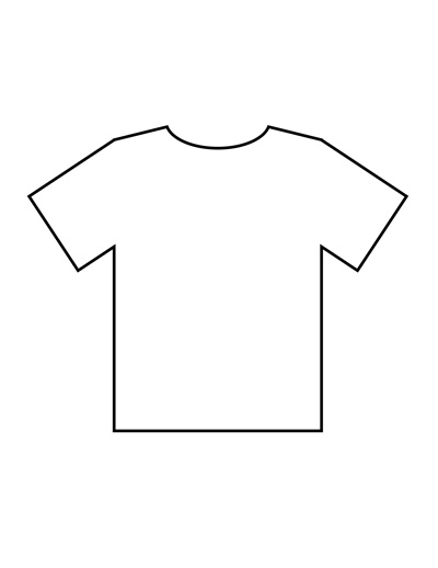 Blank T Shirt Templates  PDF With Blank Tshirt Template Printable With Regard To Blank Tshirt Template Printable