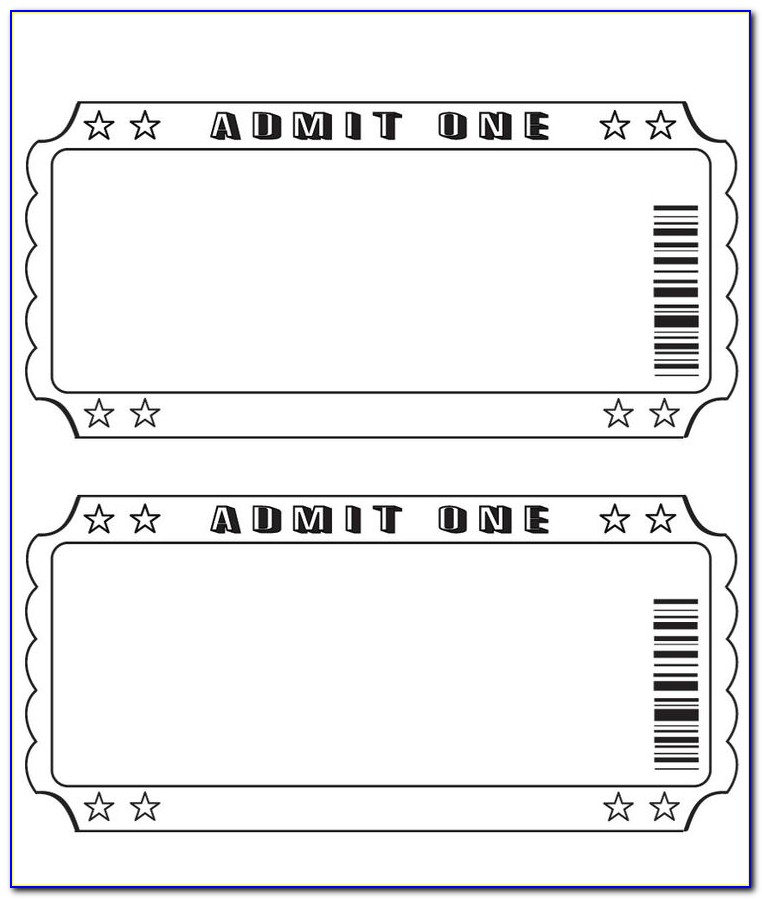 Blank Ticket Templates Free  vincegray11 Within Blank Admission Ticket Template Intended For Blank Admission Ticket Template