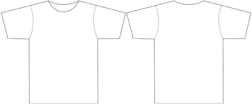 Blank White T Shirt Template - ClipArt Best Intended For Blank Tshirt Template Printable