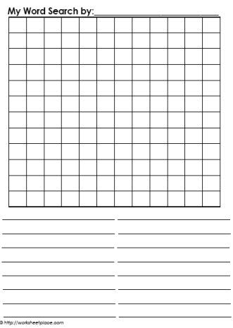 Blank Word Search Worksheets Regarding Blank Word Search Template Free With Regard To Blank Word Search Template Free