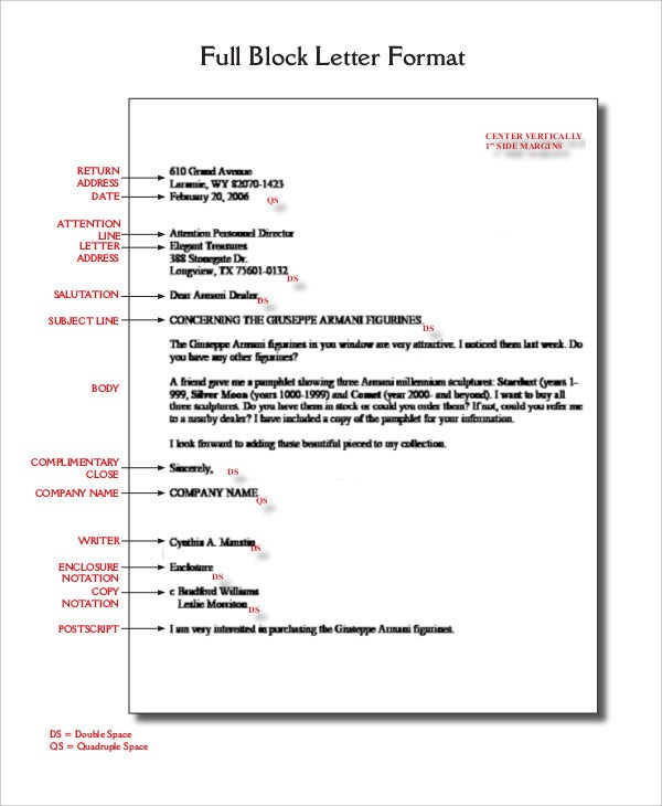 Block Letter Format Template - 11+ Free WOrd, PDF Documents  Pertaining To Modified Block Letter Template Word Within Modified Block Letter Template Word