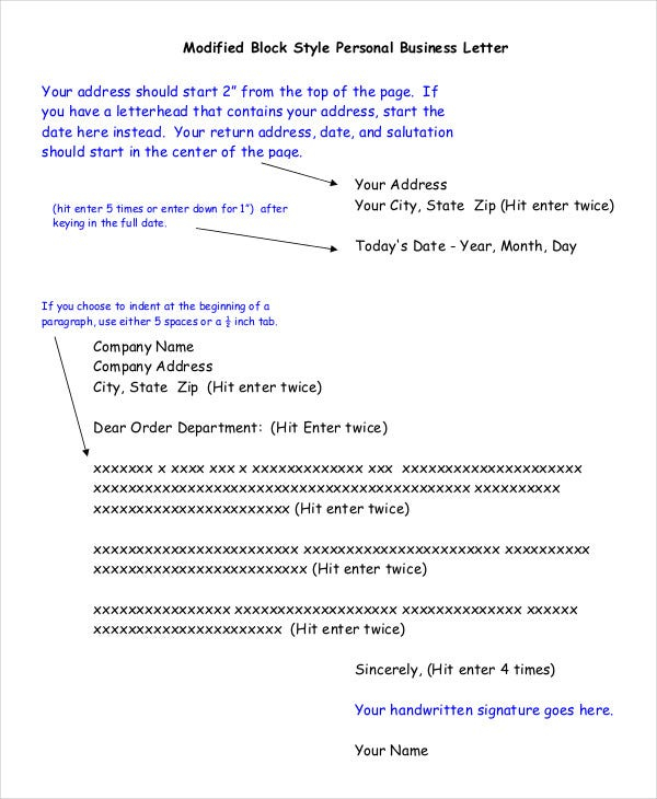 Block Letter Format Template - 11+ Free WOrd, PDF Documents  Regarding Modified Block Letter Template Word Throughout Modified Block Letter Template Word