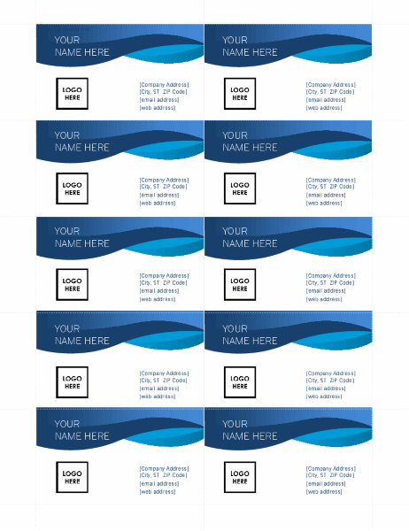 Blue curve business cards With Free Template Business Cards To Print With Regard To Free Template Business Cards To Print