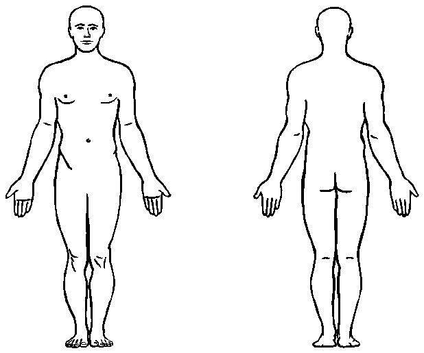 Body Map Template - ClipArt Best In Blank Body Map Template With Regard To Blank Body Map Template