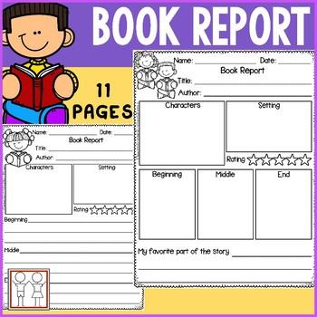 Book Report for Kindergarten and First Grade Inside Book Report Template Grade 1 Inside Book Report Template Grade 1