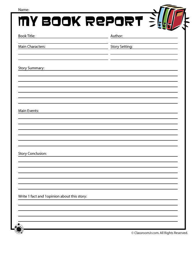 Book Report Forms Intended For Book Report Template 4th Grade With Book Report Template 4th Grade