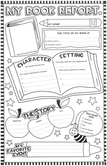 book report  Squarehead Teachers Inside One Page Book Report Template Regarding One Page Book Report Template