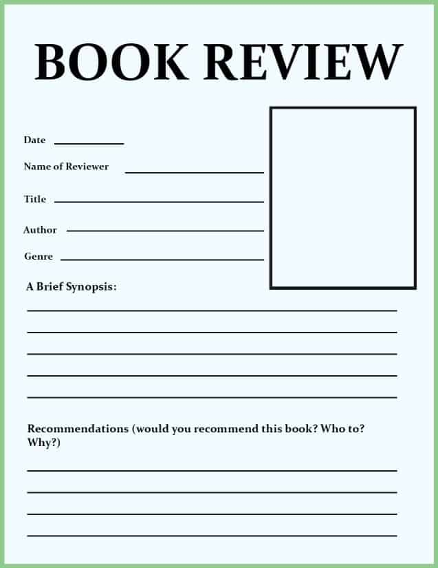 Book Review Template for Kids (Tips & Activities) - Go Science Girls For Middle School Book Report Template Throughout Middle School Book Report Template