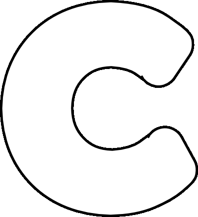 Bubble Writing Template - Letter Throughout Large Letter C Template Within Large Letter C Template