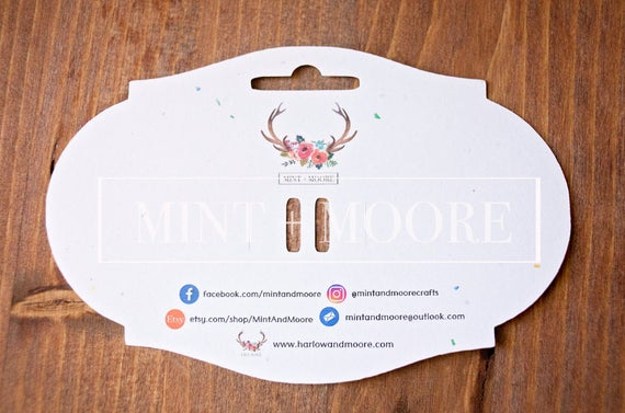 BUNDLE Bow, Earring and headband Card Holder Templates + Business Card  Template Throughout Headband Card Template