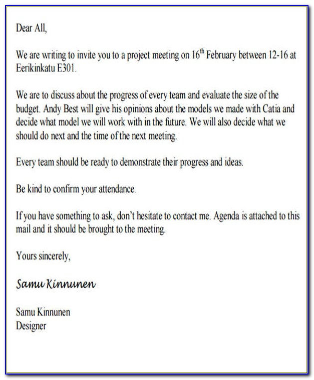 Business Meeting Invitation Email Template  vincegray11 Pertaining To Email Template For Meeting Invitation Within Email Template For Meeting Invitation
