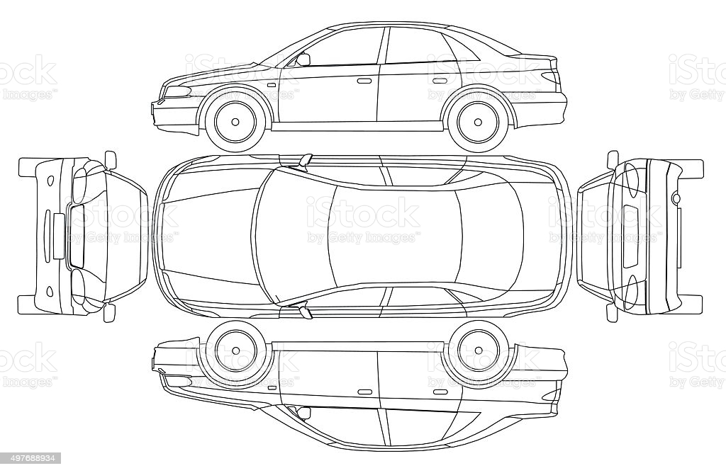 Car Line Draw Insurance Rent Damage Condition Report Form Stock  Illustration - Download Image Now In Truck Condition Report Template Regarding Truck Condition Report Template