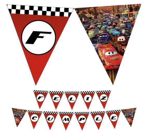 CARS Disney Birthday Banner - Cars Digital Printable Banner  With Cars Birthday Banner Template Inside Cars Birthday Banner Template