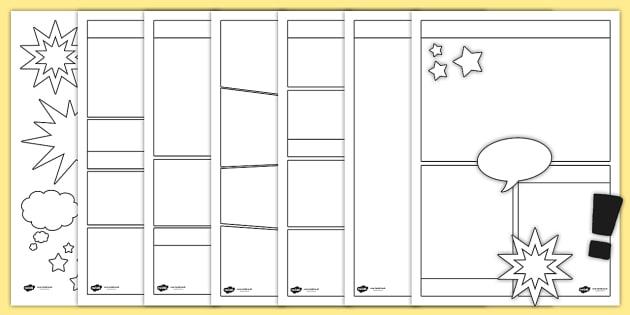 Cartoon Template Throughout Printable Blank Comic Strip Template For Kids With Printable Blank Comic Strip Template For Kids