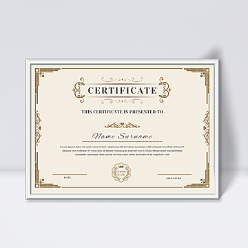 Certificate of authorization Templates PSD Design for Free  With Certificate Of Authorization Template Pertaining To Certificate Of Authorization Template