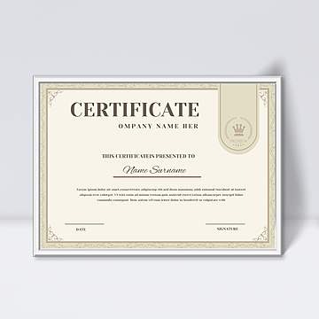 Certificate of authorization Templates PSD Design for Free  With Certificate Of Authorization Template In Certificate Of Authorization Template