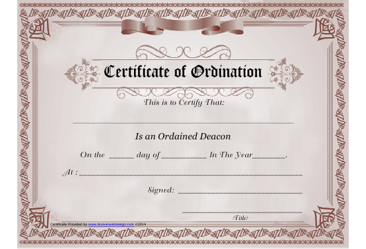 Certificate of Ordination Template Download Printable PDF  Inside Certificate Of Ordination Template For Certificate Of Ordination Template