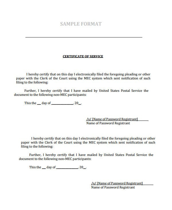 Certificate of Service Template - 11+ Word, PDF, PSD, AI, InDesign  For Certificate Of Service Template Free Throughout Certificate Of Service Template Free