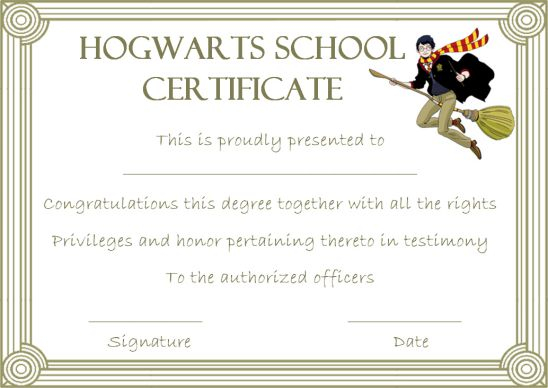 Certificates Archives - Page 11 of 11 - Template Sumo With Regard To Harry Potter Certificate Template Throughout Harry Potter Certificate Template