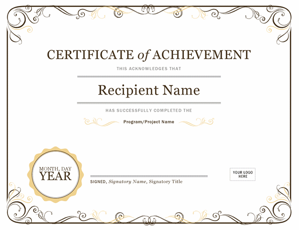 Certificates - Office In Blank Certificate Templates Free Download