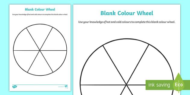 CfE Blank Colour Wheel Worksheet For Blank Color Wheel Template Inside Blank Color Wheel Template