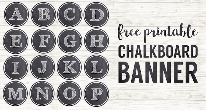 Chalkboard Banner Letters Free Printable Alphabet  Paper Trail Design Pertaining To Printable Letter Templates For Banners Regarding Printable Letter Templates For Banners