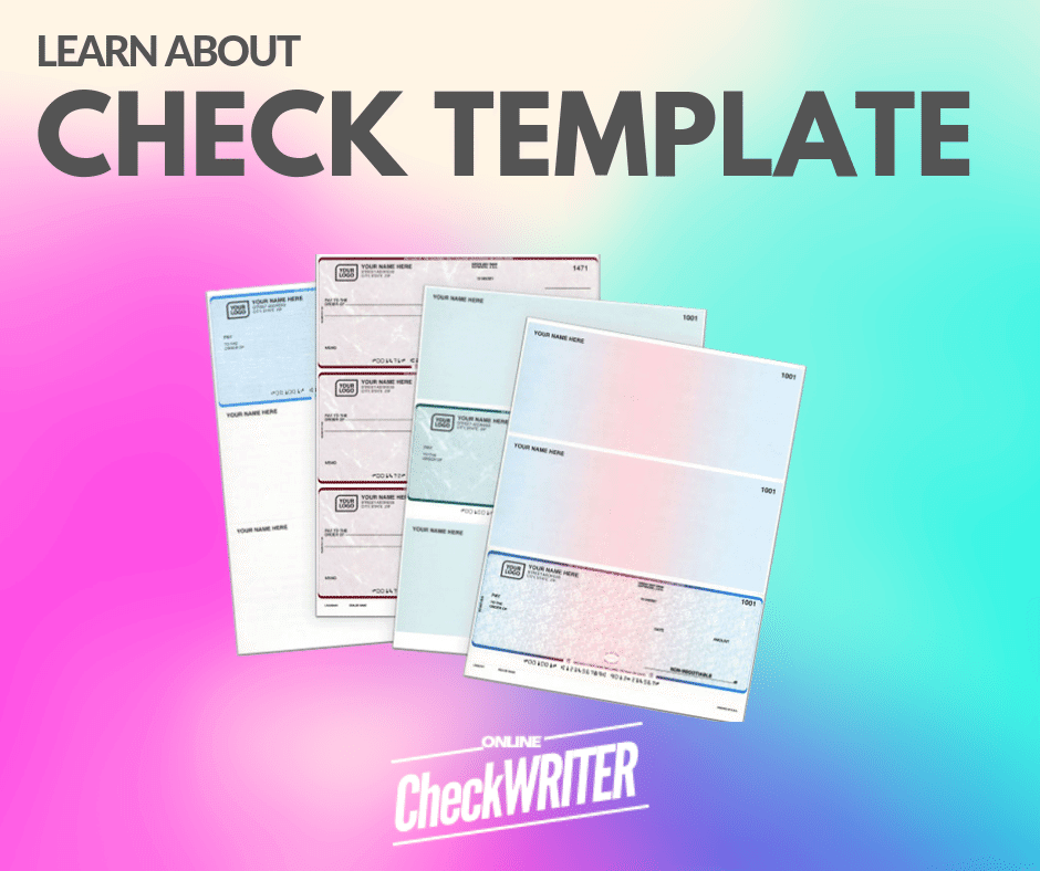 Check Template - Blank Check Template. Print Online Instantly any  With Blank Business Check Template Word