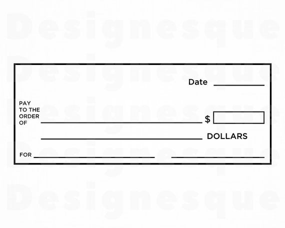 Check Template SVG, Blank Check Svg, Bank Account Svg, Money Svg, Clipart,  Files for Cricut, Cut Files For Silhouette, Dxf, Png, Eps, Vector Pertaining To Blank Cheque Template Uk
