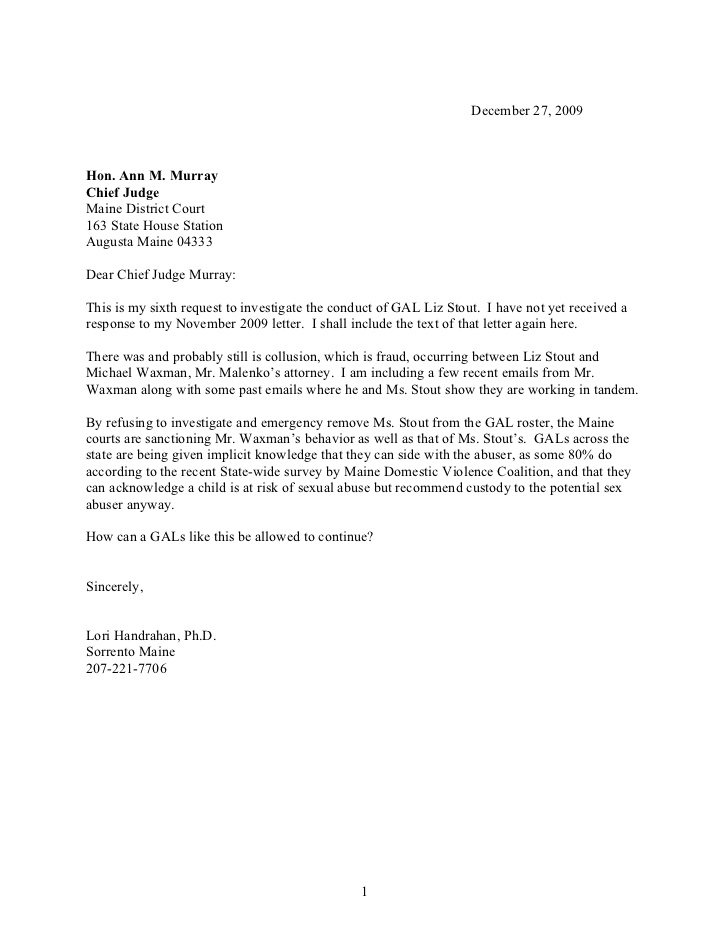 Chief judge letter(11) sixth request Pertaining To Letter To Judge Template Intended For Letter To Judge Template