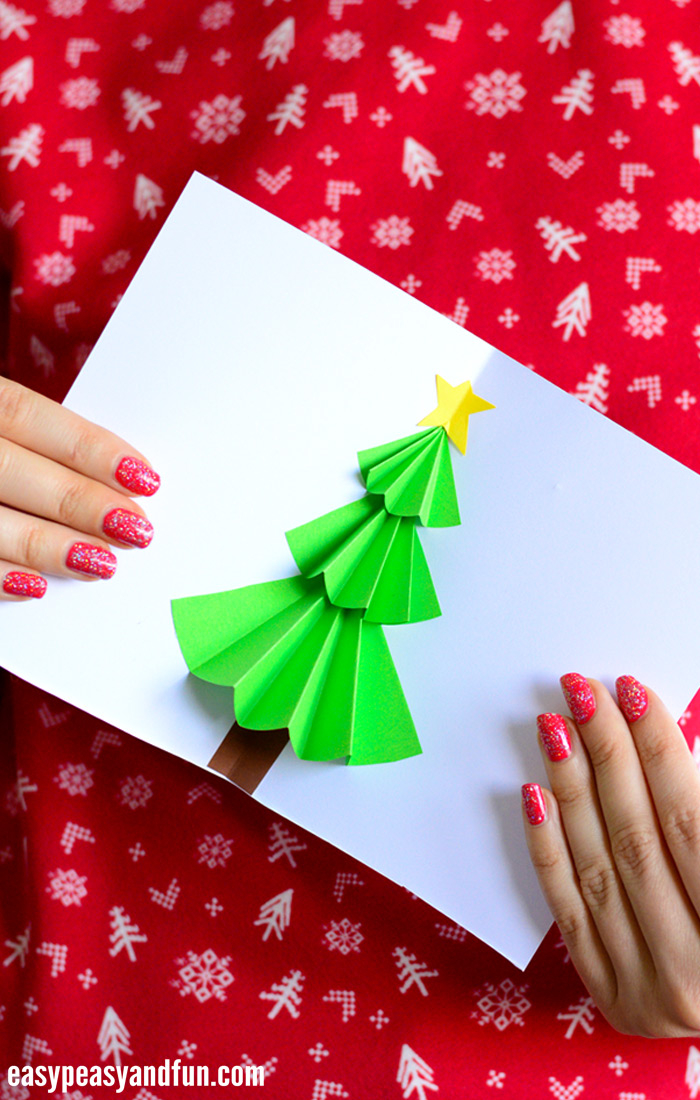 Christmas Tree Pop up Card - Easy Peasy and Fun Inside Pop Up Tree Card Template Pertaining To Pop Up Tree Card Template