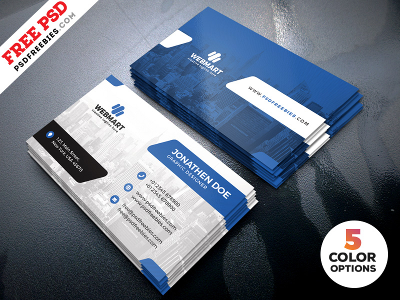 Clean Business Card Templates PSD  PSDFreebies With Free Bussiness Card Template